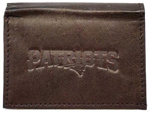 Patriots Tri-Fold Leather Wallet