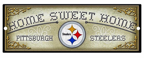 """Steelers """"Home Sweet Home"""" Cross-Stitch Sign"""