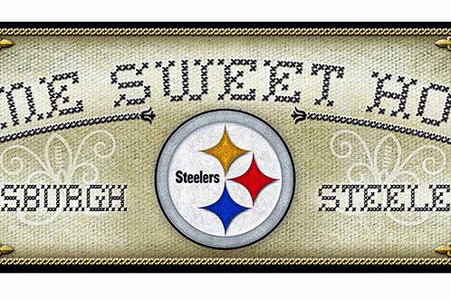 "Steelers ""Home Sweet Home"" Cross-Stitch Sign"