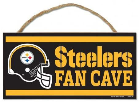 "Steelers ""Fan Cave"" Sign"