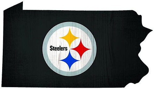 """Steelers """"State of Pennsylvania"""" Sign"""