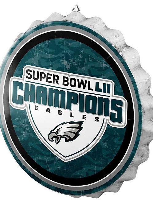 Super Bowl LII Eagles Bottle Cap Sign
