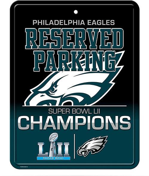 """Super Bowl LII Eagles """"Reserved Parking"""" Sign"""
