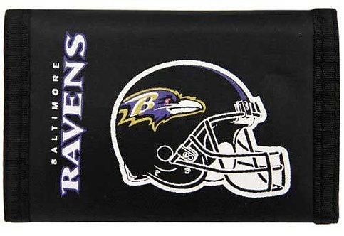 Ravens Tri-Fold Nylon Wallet