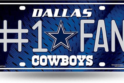 "Cowboys ""#1 Fan"" License Plate"