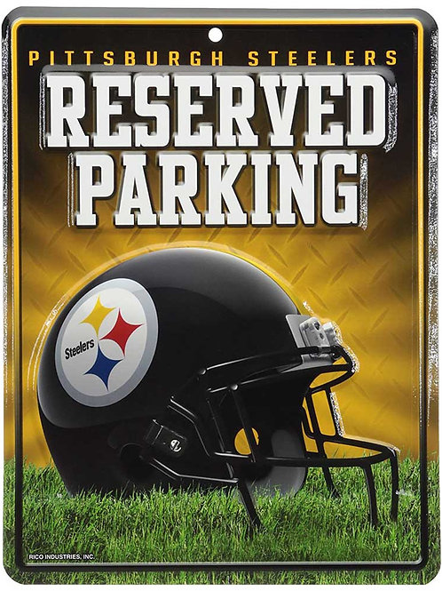 """Steelers """"Reserved Parking"""" Sign"""