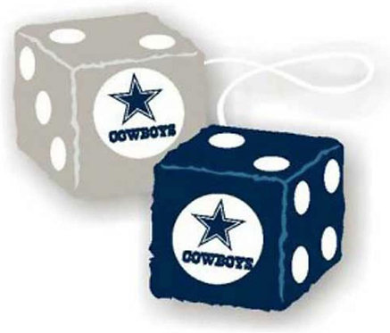 Cowboys Fuzzy Dice