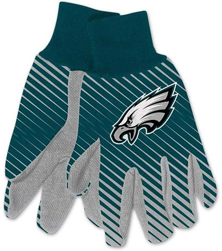Eagles Adult 2-Tone Gloves Blue/Gray