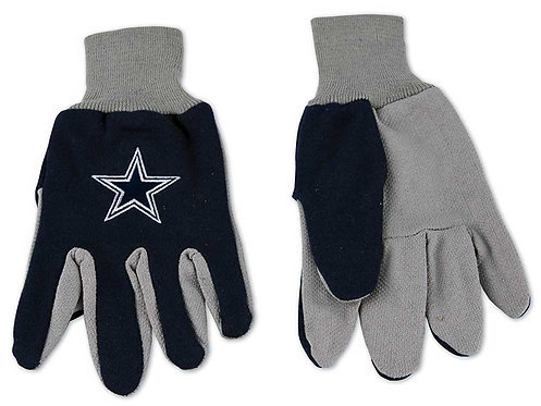 Cowboys Adult 2-Tone Gloves Blue/Gray