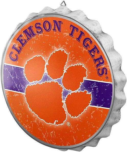 Clemson Tigers Bottle Cap Sign