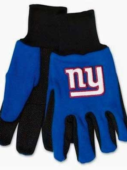 Giants Adult 2-Tone Gloves Blue/Black
