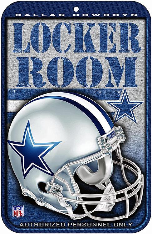 Cowboys Locker Room Sign