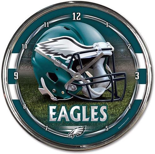 Eagles Chrome Clock