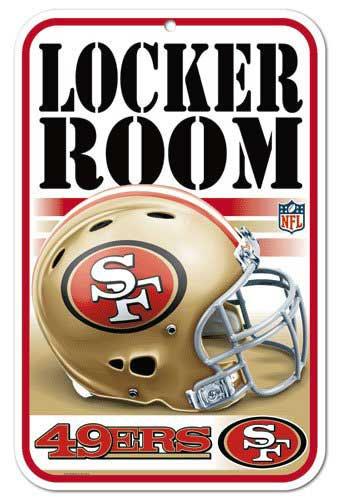 49ers Locker Room Sign
