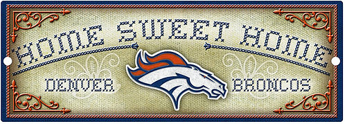 "Broncos ""Home Sweet Home"" Cross-Stitch Sign"