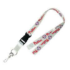 Phillies Lanyard White