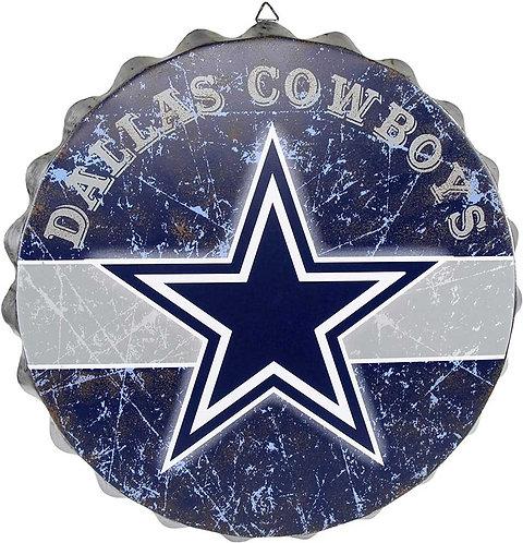 Cowboys Bottle Cap Sign