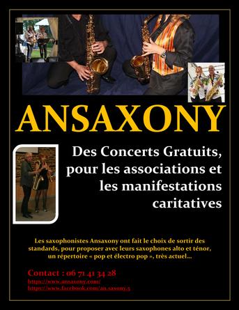 ANSAXONY nouvelle affiche concert gratui