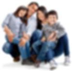 Happy family at pediatrician