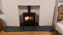 Stovax Riva Plus on slate hearth