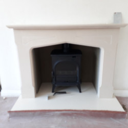 Custom made limestone surround