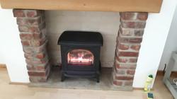 Balanced flue gas stove