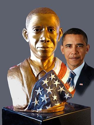 Sculpture Bust of President Obama