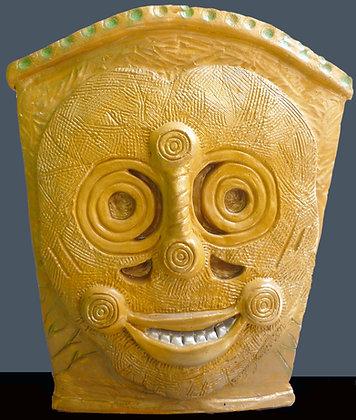 Smiling Mask Vase