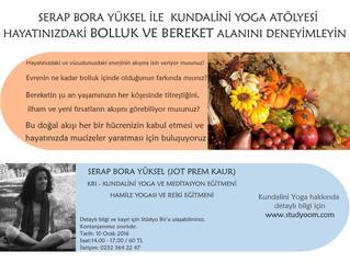 4-10 Ocak Kundalini Yoga Derslerinde Evrenin Bolluk Tarlasında Buluşuyoruz :)