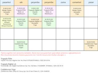 17-23 Ekim Tarihleri Arası Ders Programım
