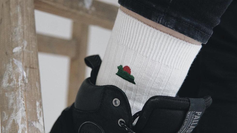 光年百貨   襪襪耕耘獅子山刺繡棉襪