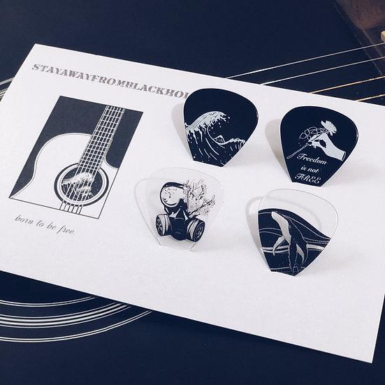Stayawayfromblackhole   born to be free / 抗爭義賣款 Guitar Pick Set