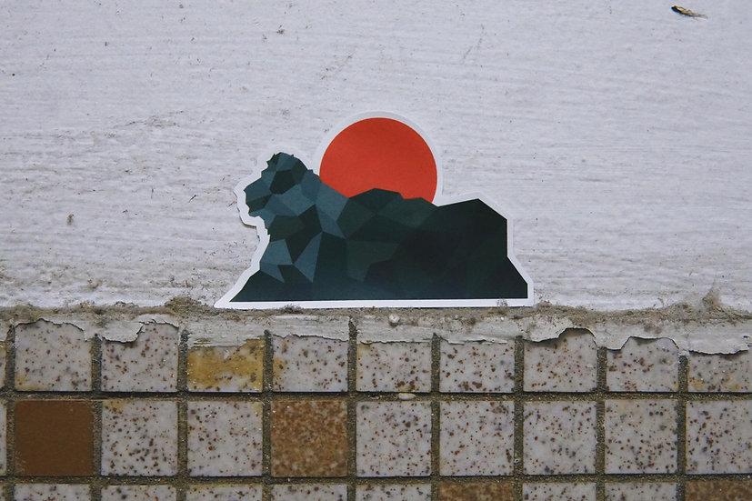 光年百貨   赤玉獅子山防水貼紙