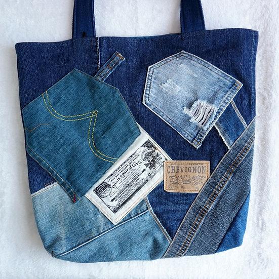 HelenKing | Levi's x 舊牛仔 拼貼Tote Bag (手作品只得一個)