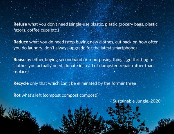 Sustainable Jungle zero waste quote