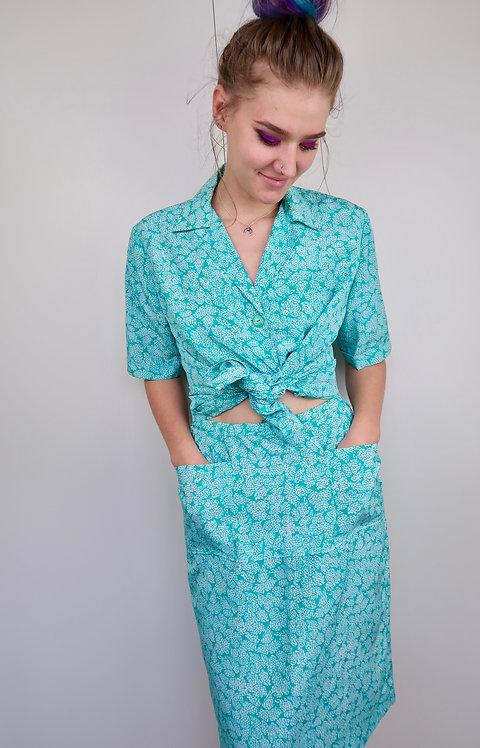 Handmade Vintage Blouse & Skirt Set