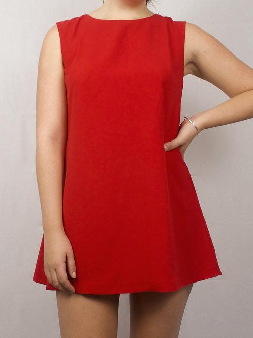 Cutout Back Mini Dress