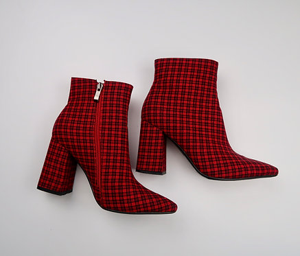 Red Checkered Boots