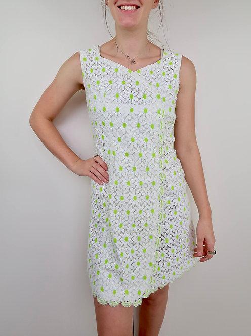 Vintage Floral Crochet Dress