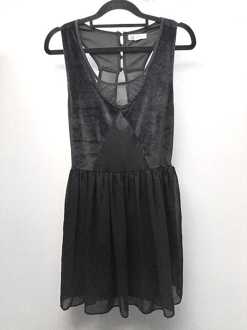 Velvet & Mesh Dress