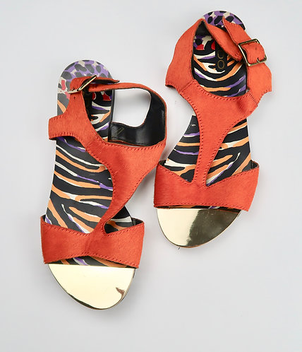 Leather Mohair Sandals