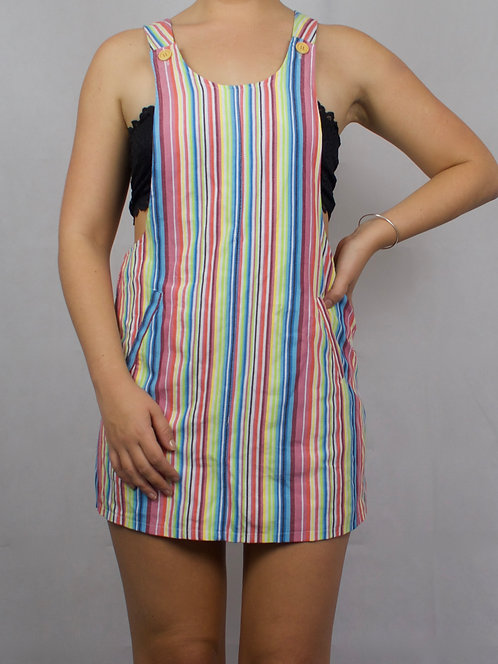 Candy Stripe Pinafore Dress