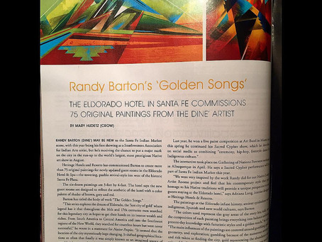 Randy L Barton featured on Page 32 in #NativePeoplesMagazine /// July issue.
