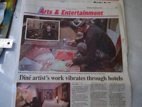 Diné artist's work vibrates through hotels