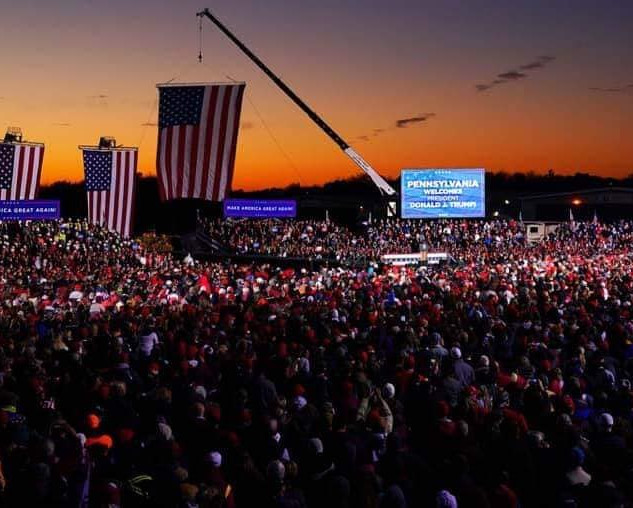 View of a Trump Rally