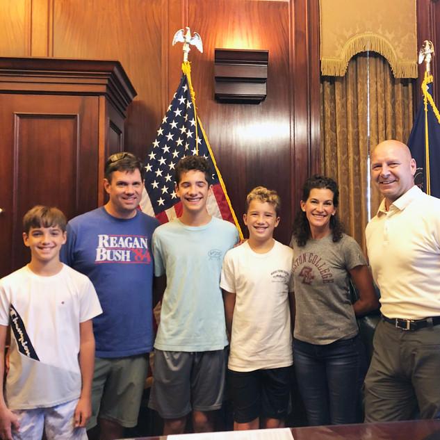 Wendy, Family and Sen. Doug Mastriano