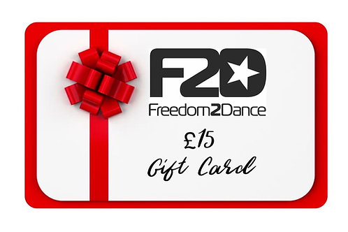 F2D £15 Gift Card