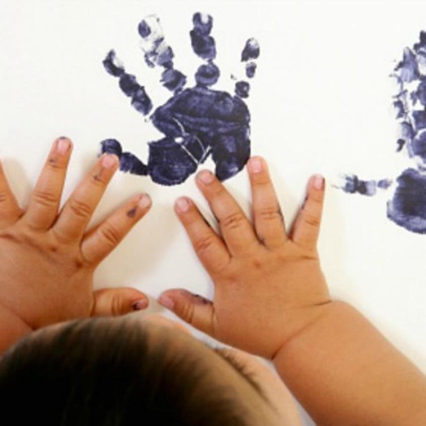 Baby Bounce 30th Sept - Hand Print Art
