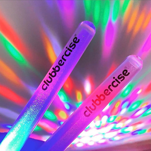Clubercise UV Reactive LED Glow Sticks