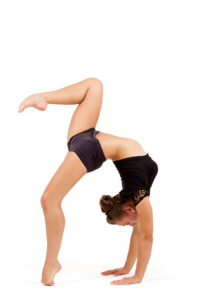 beauty contortionist practicing gymnasti
